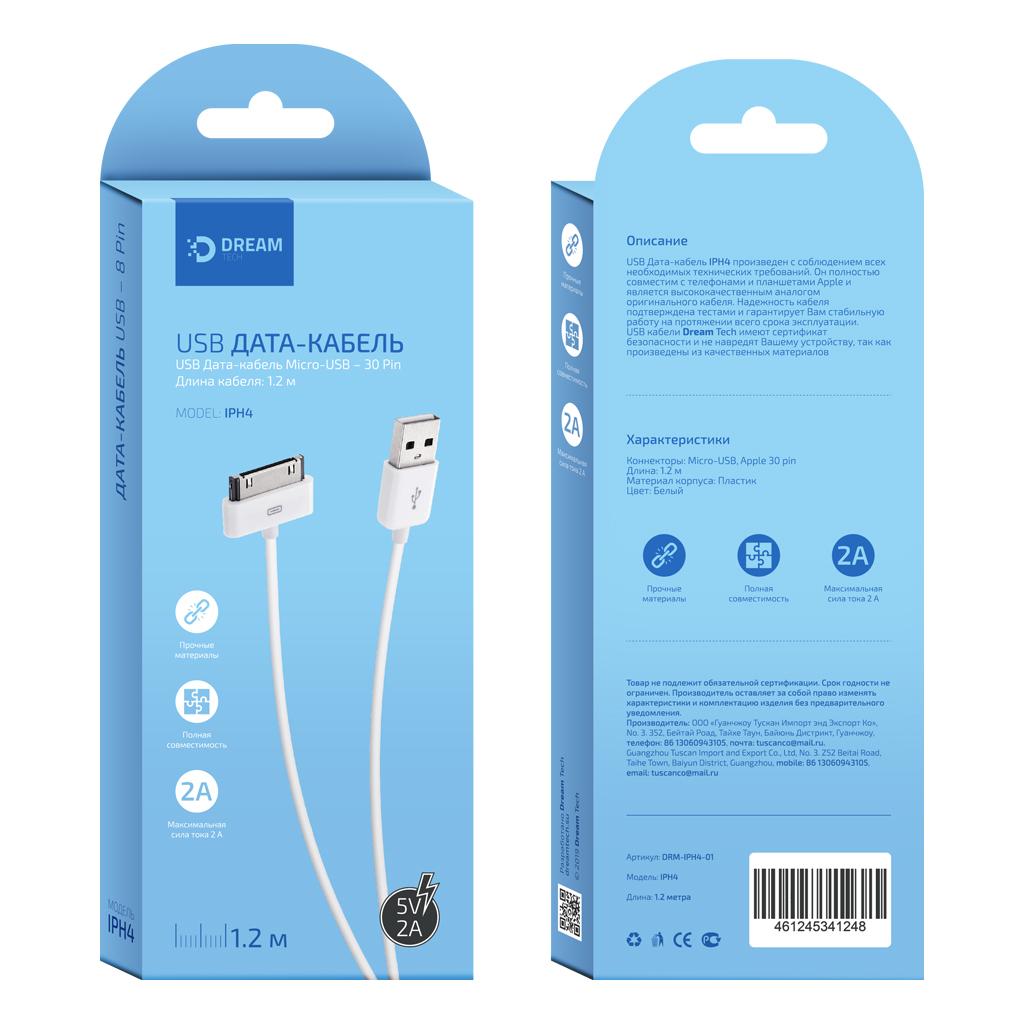 Кабель Dream Micro-USB - 30 Pin